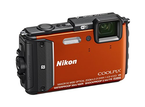 Nikon Coolpix AW130 Fotocamera Digitale Compatta, 16 Megapixel, Zoom 5X, 6400 ISO, OLED 3