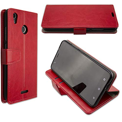 caseroxx Hülle/Tasche Bookstyle-Case Gigaset GS270 / GS270 Plus Handy-Tasche, Wallet-Case Klapptasche in rot