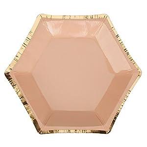 Neviti Colour Block Marble - Plato para fiestas (tamaño pequeño), color albaricoque y mármol