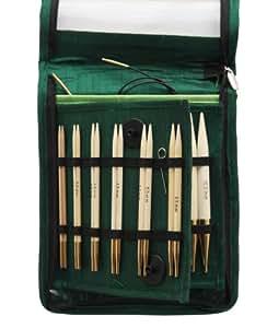KnitPro 22542 Bamboo Deluxe Kit d'aiguilles à tricoter interchangeables