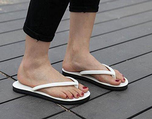 Sentao Unisex Adulto Infradito Flip Flops Comodo Sandali per Spiaggia e Piscina Bianca