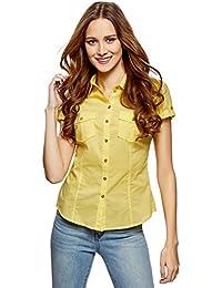 a5ad6ca5fa Amazon.es  Amarillo - Blusas y camisas   Camisetas