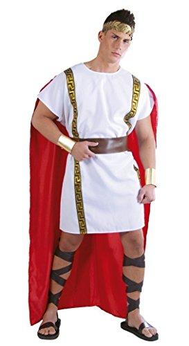 val Motto Party Kostüm für Herren rot weiß gold Gr. M-XL, Größe:L (Rotes Motto Party Kostüm)