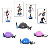 Baumarktplus Yoga Gymnastik Balance Half Ball Trainingsball Anthrazit/Grau Pink Blau Lila
