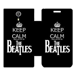 Skintice Designer Flip Cover with Vinyl wrap-around for Lenovo Zuk Z1, Design - Keep calm The Beatles