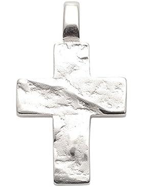 Silber 925 Sterling Silver Kreuz Anhänger - B. 15,8 mm - H. 20 mm