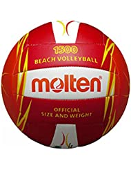 Molten, Pallone da beach volley, Multicolore (Rot/Weiß/Orange), Misura 5