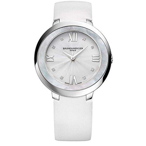 Baume & Mercier Promesse Damen-Armbanduhr Diamant 34.4mm Schweizer Quarz 10177