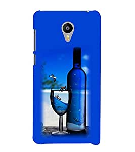 Vizagbeats Wine Bottle Glass Back Case Cover for MEIZU M2 note