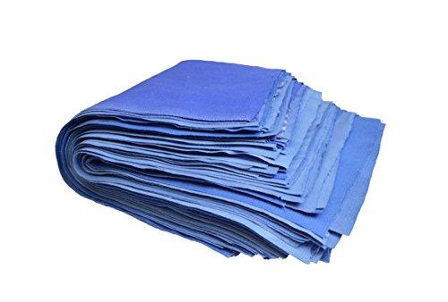 2KG Putzlappen Reinungstücher Putztücher 100{b883ce981ba221f59c4a9f4c177c6e31e7f7ed17757958bab1dbc0a815af0b61} reine Baumwolle Zuschnitt Blau Umweltfreundlich DIN 61650