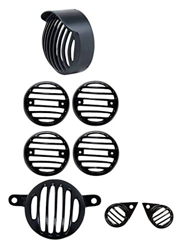 Generic (unbranded) Combo of Indicator, Eyes, Tail and Head Light Grill for Royal Enfield Classic 350 (Metal Grill)