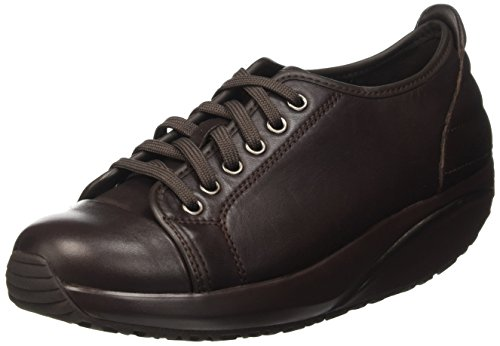 MBT Batini Lace Up, Zapatillas de Estar por Casa para Mujer, Marrón (Black Coffee Nappa), 39 EU