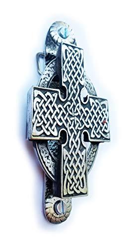 Stoneys Anstecknadel, Keltisches Kreuz aus englischem Zinn