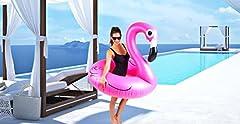 Idea Regalo - Fenicottero Gonfiabile Gigante - Grande Accessorio Divertente Per La Piscina, La Spiaggia O Una Festa Estiva!