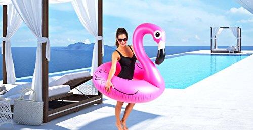 Fenicottero gonfiabile gigante - grande accessorio divertente per la piscina, la spiaggia o una festa estiva!