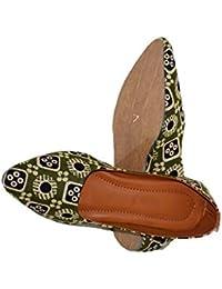 8eca32b769252 Amazon.in: Green - Ethnic Footwear / Women's Shoes: Shoes & Handbags