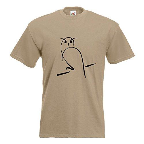 ... Motive Oberteil Baumwolle Print Größe S M L XL XXL Khaki. KIWISTAR -  Eule T-Shirt in 15 verschiedenen Farben - Herren Funshirt bedruckt Design  Sprüche