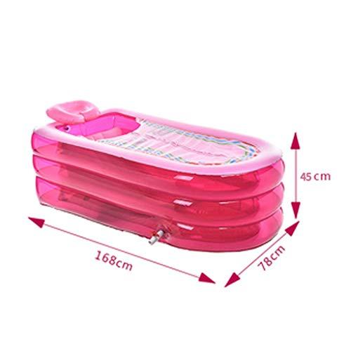 Bañera Hinchable Bañera para Adultos Bañera Plegable Bañera de plástico Barriles de...