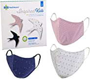 Mediweave 3 Ply Cotton Mask for Kids with Meltblown Filter, Reusable & Washable Mask (Pack of 3, Pattern &