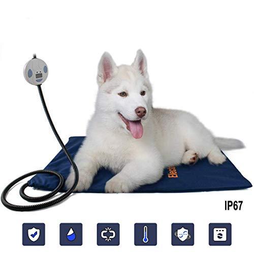 ZHHB Heizkissen für Haustiere, elektrische Heizdecke für Katzenhunde, Anti-Beiß- und wasserdichte, anpassbare Innenwärmematte für Tiere für Katzenhunde,UK