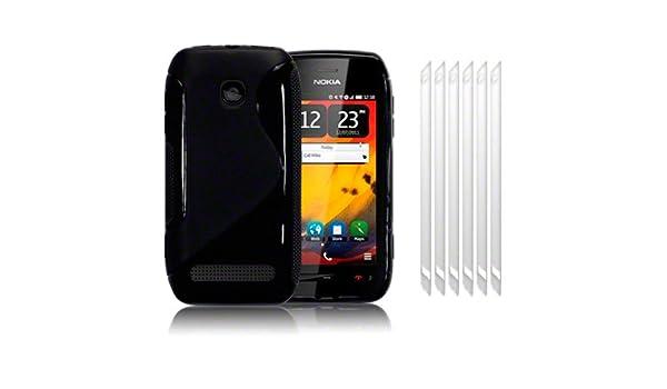 premium selection 71cf3 e8796 NOKIA 603 SOLID BLACK S CURVE TPU GEL SKIN CASE: Amazon.co.uk ...