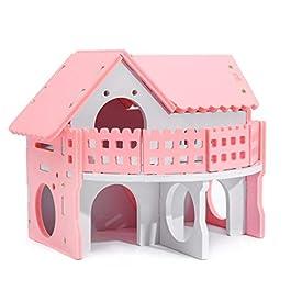 Cute Hamster House Gabbie Rat Mouse Nest Scala A Due Piani Letto Colorato