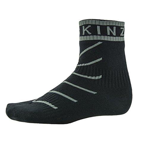 SealSkinz Unisex Erwachsene Socken Super Thin Pro Ankle Plus Hydro, Schwarz (Black/Grey), 36-38 EU (Herstellergröße: S) Ld-liner
