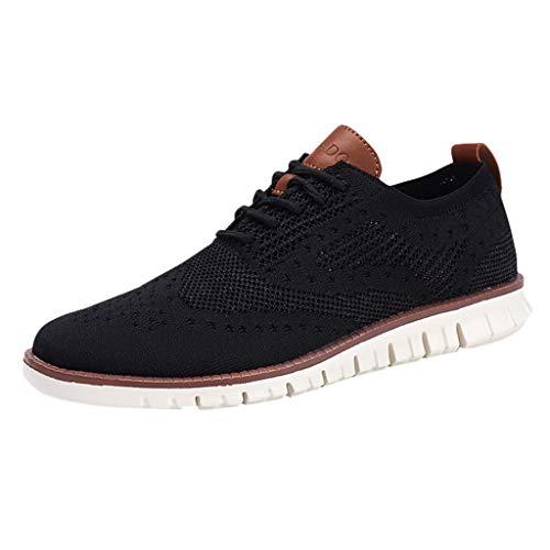 ☀NnuoeN☀ Scarpe Casual da Uomo Sneakers in Mesh Traspiranti E Comode Scarpe Mocassini Calzature Allacciate Le Scarpe Casual Scarpe Piatte retrò