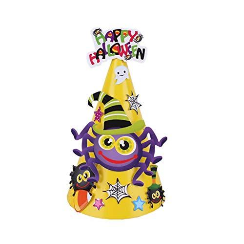 Lovinda Kopfschmuck Halloween Fledermaus Hut DIY Handpaste kreative Geschenke Macht für Cosplay Kostüm/Halloween-Dekorationen,Gelb