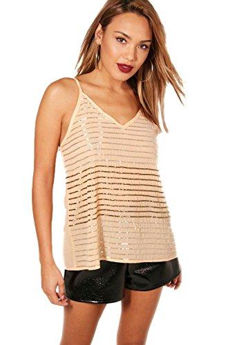 Nackt Damen Freya Embellished Stripe Sequin Cami - 8 (Embellished Cami)