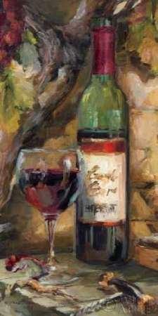 Küche Weinreben Dekor (Le Cour de le Chateau I Von Hageman, Marilyn Kunstdruck auf Leinwand - Klein (30 x 61 cms ))