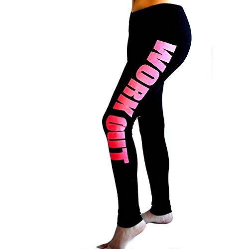 wlgreatsp Pantalon dentraînement lettre Imprimer Pantalon de yoga Numérique Leggings Serrés joggings Fitness Leggings S # 3