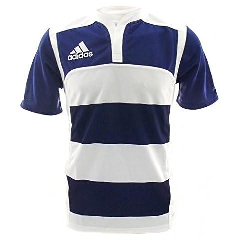 Adidas Junior Adidas Rugby garçon bleu marine/rayures jersey Bleu/Blanc 14 ans Bleu/Blanc