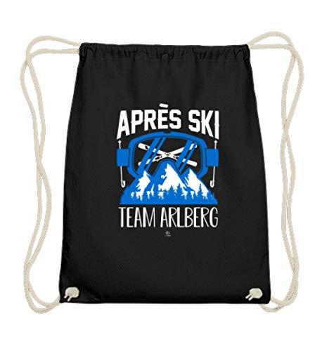 Kostüm Für Snowboard - EBENBLATT Apres Ski Team Arlberg Südtirol Österreich Kleidung Austria Snowboard Kostüm cool Geschenk - Baumwoll Gymsac -37cm-46cm-Schwarz