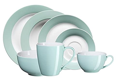 Domestic by Mäser, Serie Kitchen Time, Kombiservice 42-teilig, für 6 Personen, in der Farbe Grün
