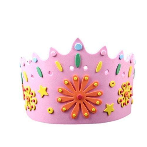 Amosfun Geburtstag Krone Hüte Alles Gute Zum Geburtstag DIY Papier Tiara Crown Party Supplies für Kinder