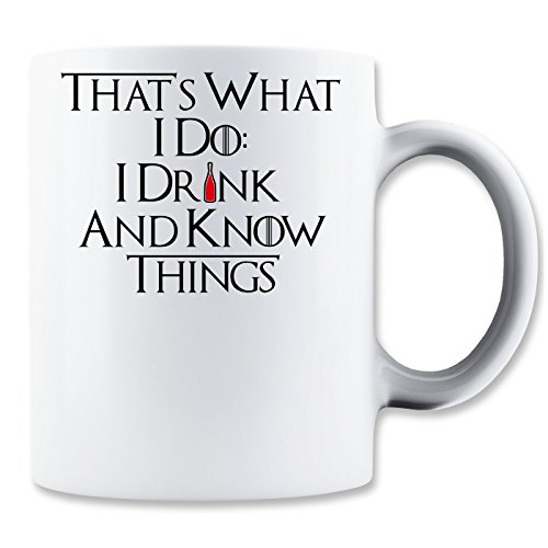 That's What I Do I Drink And I Know Red Vine Bottle Klassische Teetasse Kaffeetasse - Funny Vine New Best