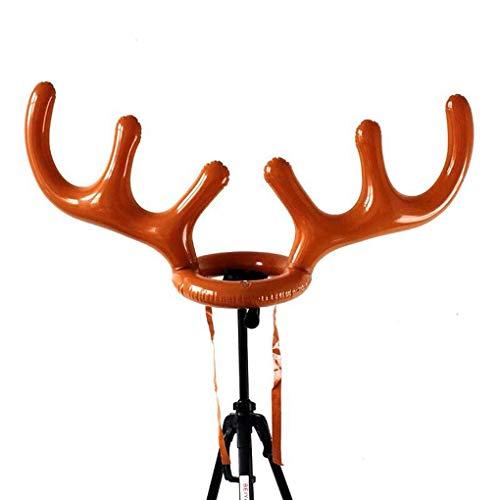 Rekkles Ornament Toss Inflatable Rengeweih Hut mit Ringen PVC Weihnachtsfeiertags-Party Familie Kinder Büro Spiele Spielzeug