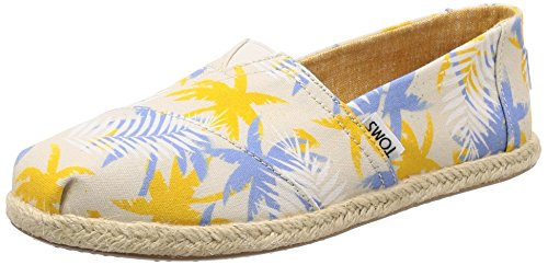 TOMS Womens Classics Birch Tropical Palm Rope Sole 38.5 Womens Toms