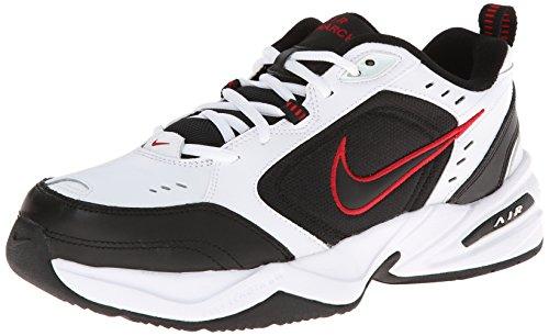 Nike Air Monarch IV Training Shoe (4E) - White/Black/Varsity Red, Size 10.5 US White / Black