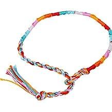 Hippie Estilo colorido pulseras de la amistad trenzado hilo muñeca tobillo pulsera color al azar --- moleteados
