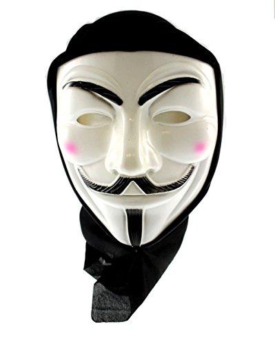 Zac's Alter Ego® Anonymous Guy-Fawkes-Maske mit schwarzem Tuch zur ()