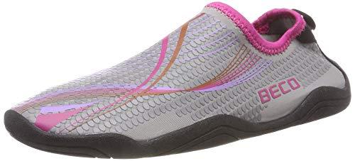 Beco Damen und Herren Badeschuhe Schwimmschuhe Surfschuhe Barfuß Schuhe Wasserschuhe Strandschuhe Aquaschuhe schnell trocknend, pink, 36