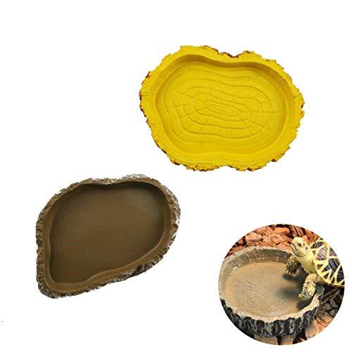 Winterworm Set di 2rettile tartaruga ciotola per l' acqua cibo ciotola mangiatoie per...