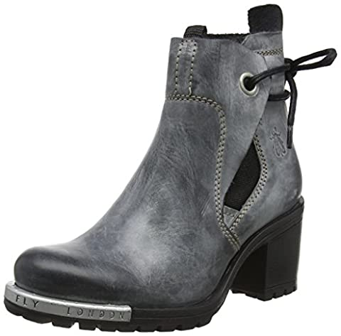 Fly London Damen Luxe046fly Stiefel, Grau (Anthracite), 41 EU