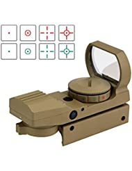 Svbony Red Dot Sight Viseur Point Rouge Multi Réticule Rouge et Vert Full Métal avec 5 Niveaux d'Intensité et 4 Réticules de Pointeur