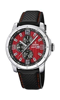 Reloj Festina F16585/7 de cuarzo para hombre con correa de piel, color negro de Festina