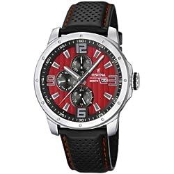 Festina F16585/7 - Reloj analógico de cuarzo para hombre con correa de piel, color negro