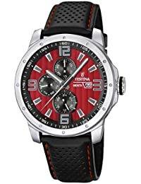 Festina Herren-Armbanduhr XL Sport Multifunktion Analog Quarz Leder F16585/7