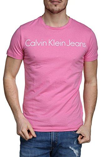 Calvin klein jeans j30j306458 treasure t-shirt e canotte uomo pink l
